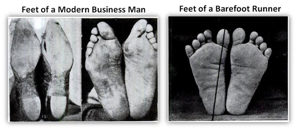 Shoe wearing feet VS Bare feet